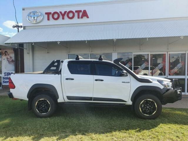Used Toyota Hilux GUN126R MY19 Upgrade Rugged (4x4) Emerald, 2019 Toyota Hilux GUN126R MY19 Upgrade Rugged (4x4) White 6 Speed Automatic Double Cab Pick Up