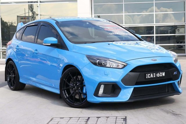 Used Ford Focus LZ RS AWD Liverpool, 2017 Ford Focus LZ RS AWD Nitrous Blue 6 Speed Manual Hatchback
