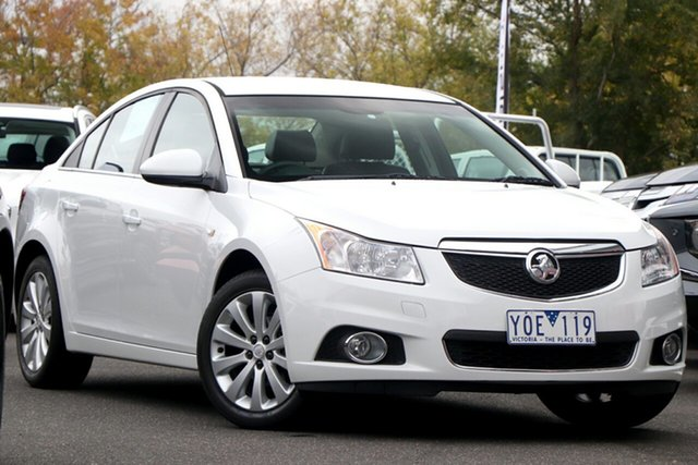 Used Holden Cruze JH Series II MY11 CDX Essendon North, 2011 Holden Cruze JH Series II MY11 CDX White 6 Speed Sports Automatic Sedan