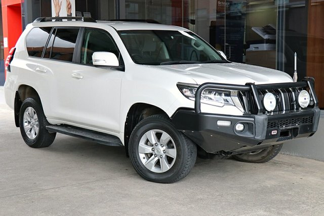 Pre-Owned Toyota Landcruiser Prado GDJ150R GXL Preston, 2018 Toyota Landcruiser Prado GDJ150R GXL White 6 Speed Sports Automatic Wagon