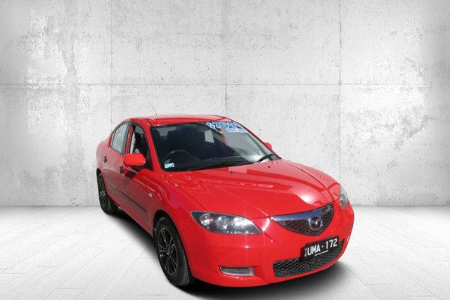 Used Mazda 3 BK10F1 Neo Bendigo, 2006 Mazda 3 BK10F1 Neo Red 5 Speed Manual Sedan