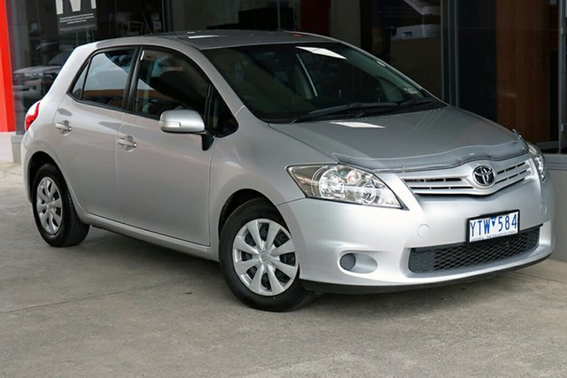 Pre-Owned Toyota Corolla ZRE152R MY10 Ascent Preston, 2010 Toyota Corolla ZRE152R MY10 Ascent Silver, Chrome 4 Speed Automatic Hatchback