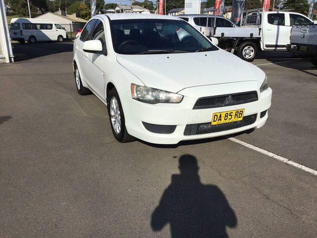 Used Mitsubishi Lancer CJ MY11 SX Cardiff, 2011 Mitsubishi Lancer CJ MY11 SX White 5 Speed Manual Sedan