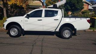 2010 Mitsubishi Triton MN MY10 GLX White 5 Speed Manual Double Cab Utility.