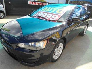 2008 Mitsubishi Lancer CJ MY09 ES Sportback Black 6 Speed Constant Variable Hatchback.