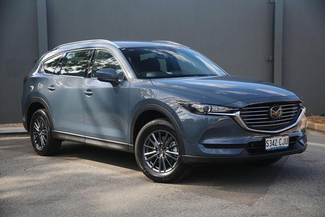 Demo Mazda CX-8 KG2WLA Sport SKYACTIV-Drive FWD Hindmarsh, 2021 Mazda CX-8 KG2WLA Sport SKYACTIV-Drive FWD Polymetal Grey 6 Speed Sports Automatic Wagon
