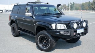 2010 Nissan Patrol GU 7 MY10 ST Black 5 Speed Manual Wagon.