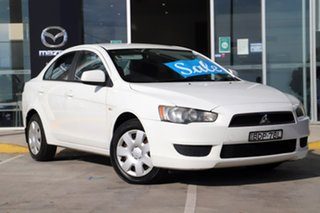 2007 Mitsubishi Lancer CJ MY08 ES White 5 Speed Manual Sedan.