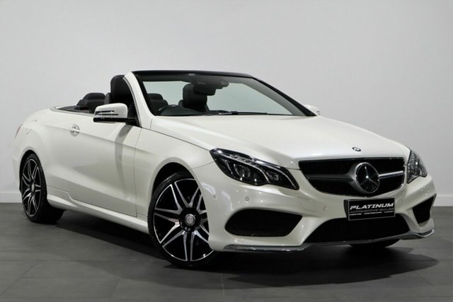 Used Mercedes-Benz E-Class A207 806MY E250 7G-Tronic + Bayswater, 2015 Mercedes-Benz E-Class A207 806MY E250 7G-Tronic + White 7 Speed Sports Automatic Cabriolet