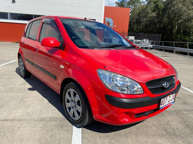 Used Hyundai Getz TB Upgrade SX Morayfield, 2008 Hyundai Getz TB Upgrade SX Red 5 Speed Manual Hatchback