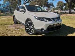 2016 Nissan Qashqai J11 TI White Continuous Variable Wagon.