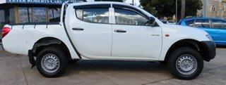 2007 Mitsubishi Triton ML GLX White 4 Speed Automatic Double Cab Utility.