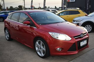 2013 Ford Focus LW MkII Titanium PwrShift Red/Black 6 Speed Sports Automatic Dual Clutch Hatchback.