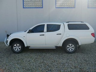 2014 Mitsubishi Triton MN MY15 GLX (4x4) White 4 Speed Automatic 4x4 Double Cab Utility.