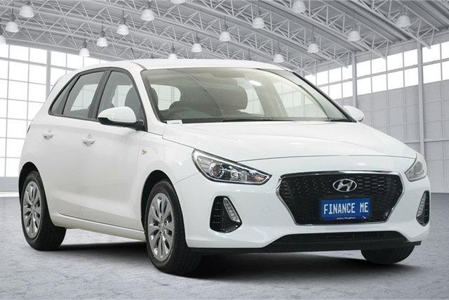 Used Hyundai i30 PD MY18 Go Victoria Park, 2018 Hyundai i30 PD MY18 Go Polar White 6 Speed Sports Automatic Hatchback