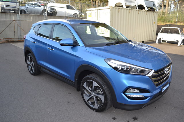 Used Hyundai Tucson TLE Elite D-CT AWD Maitland, 2016 Hyundai Tucson TLE Elite D-CT AWD Blue 7 Speed Sports Automatic Dual Clutch Wagon