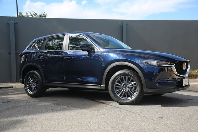 Demo Mazda CX-5 KF4WLA Maxx SKYACTIV-Drive i-ACTIV AWD Sport Hindmarsh, 2021 Mazda CX-5 KF4WLA Maxx SKYACTIV-Drive i-ACTIV AWD Sport Deep Crystal Blue 6 Speed
