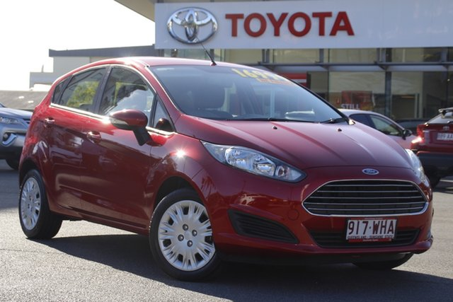 Pre-Owned Ford Fiesta WZ Ambiente PwrShift Upper Mount Gravatt, 2016 Ford Fiesta WZ Ambiente PwrShift Red 6 Speed Sports Automatic Dual Clutch Hatchback