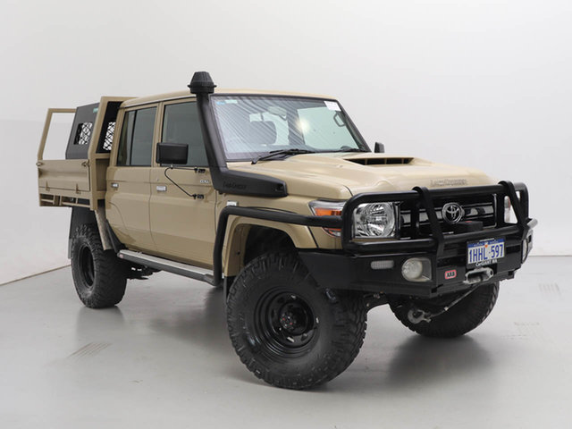 Used Toyota Landcruiser VDJ79R GXL (4x4), 2019 Toyota Landcruiser VDJ79R GXL (4x4) Sandy Taupe 5 Speed Manual Double Cab Chassis