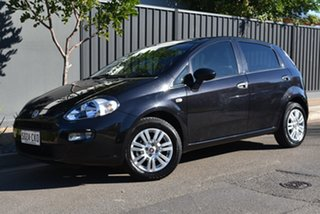 2013 Fiat Punto MY13 Pop Dualogic Black 5 Speed Sports Automatic Single Clutch Hatchback.