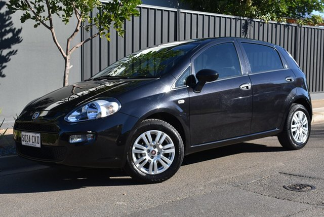 Used Fiat Punto MY13 Pop Dualogic Brighton, 2013 Fiat Punto MY13 Pop Dualogic Black 5 Speed Sports Automatic Single Clutch Hatchback
