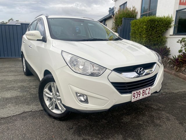 Used Hyundai ix35 LM MY12 Elite AWD Slacks Creek, 2012 Hyundai ix35 LM MY12 Elite AWD White 6 Speed Sports Automatic Wagon