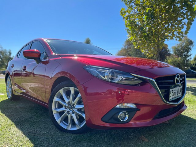 Used Mazda 3 BM5438 SP25 SKYACTIV-Drive GT Hindmarsh, 2015 Mazda 3 BM5438 SP25 SKYACTIV-Drive GT Soul Red 6 Speed Sports Automatic Hatchback