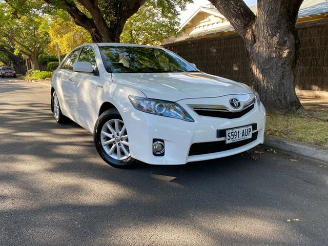 Pre-Owned Toyota Camry AHV40R Hybrid Hawthorn, 2011 Toyota Camry AHV40R Hybrid White 1 Speed Constant Variable Sedan Hybrid