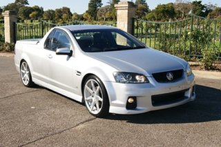 2010 Holden Commodore VE II SV6 Silver 6 Speed Manual Utility.
