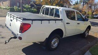 2010 Mitsubishi Triton MN MY10 GLX White 5 Speed Manual Double Cab Utility