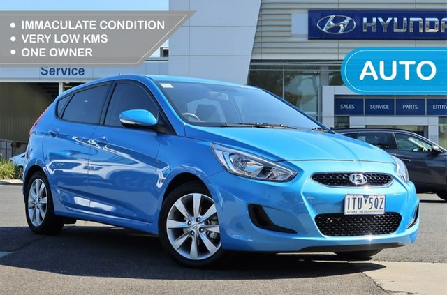 Used Hyundai Accent RB6 MY18 Sport South Melbourne, 2017 Hyundai Accent RB6 MY18 Sport Blue Lagoon 6 Speed Sports Automatic Hatchback