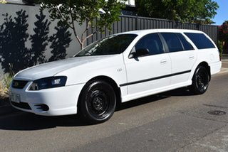 2008 Ford Falcon BF Mk III XT White 4 Speed Sports Automatic Wagon.