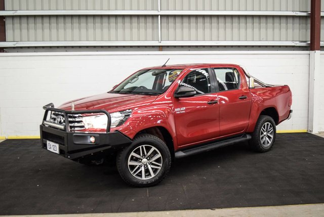 Used Toyota Hilux GUN126R SR Double Cab Canning Vale, 2017 Toyota Hilux GUN126R SR Double Cab Red 6 Speed Sports Automatic Utility
