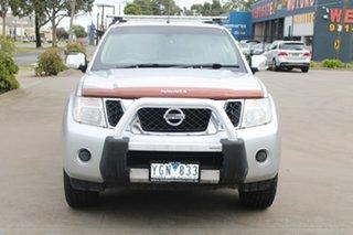 2010 Nissan Navara D40 ST-X (4x4) Silver 6 Speed Manual Dual Cab Pick-up.