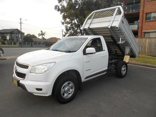 2014 Holden Colorado RG MY14 LX (4x2) White 6 Speed Automatic Cab Chassis.