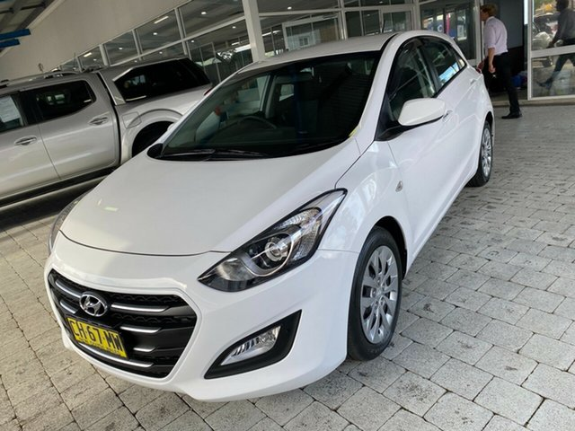 Used Hyundai i30 Active Taree, 2016 Hyundai i30 Active White Sports Automatic Hatchback