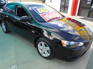 2008 Mitsubishi Lancer CJ MY09 ES Sportback Black 6 Speed Constant Variable Hatchback.