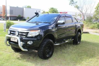 2013 Ford Ranger PX XLT Double Cab Black 6 Speed Manual Utility.