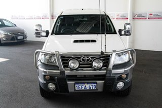 2013 Toyota Hilux KUN26R MY12 SR5 (4x4) Glacier White 4 Speed Automatic Dual Cab Pick-up.