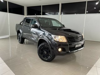 2014 Toyota Hilux KUN26R MY14 SR5 Double Cab Black 5 Speed Automatic Utility.