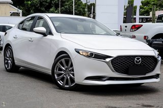 2021 Mazda 3 BP2S7A G20 SKYACTIV-Drive Evolve White 6 Speed Sports Automatic Sedan.