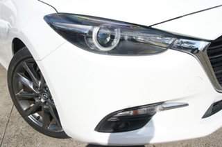 2018 Mazda 3 BN MY18 SP25 Astina (5Yr) Snowflake White Pearl 6 Speed Automatic Sedan.