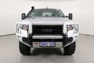 2017 Ford Ranger PX MkII MY17 Update XL 3.2 (4x4) Silver 6 Speed Automatic Crew Cab Utility.