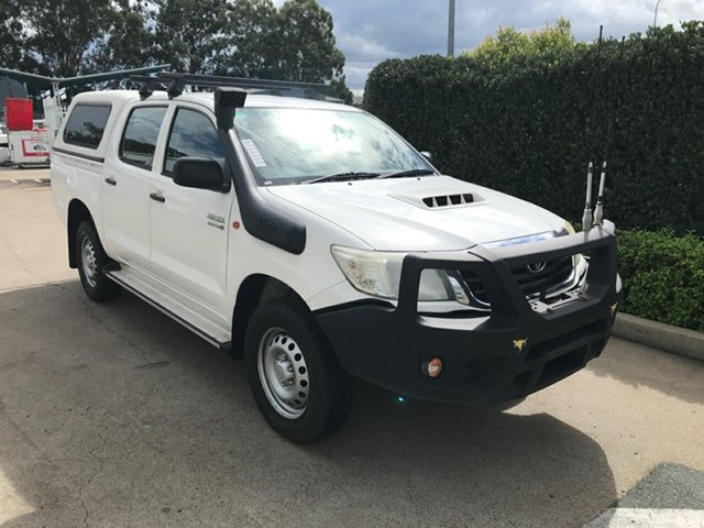 Used Toyota Hilux KUN26R MY14 SR Double Cab Acacia Ridge, 2015 Toyota Hilux KUN26R MY14 SR Double Cab Glacier 5 speed Automatic Utility