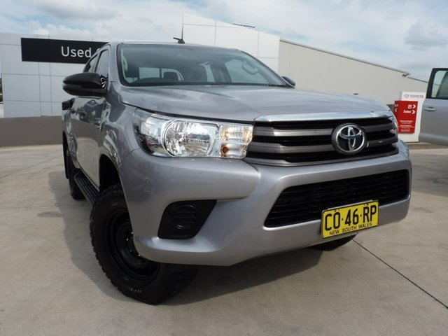 Pre-Owned Toyota Hilux GUN126R SR Double Cab Blacktown, 2017 Toyota Hilux GUN126R SR Double Cab Silver Sky 6 Speed Sports Automatic Utility