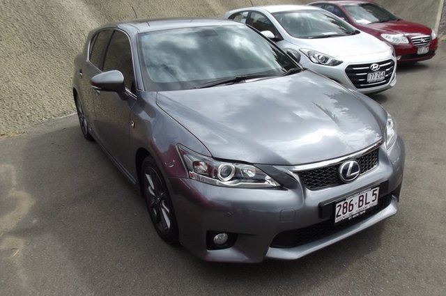 Used Lexus CT ZWA10R CT200h F Sport South Gladstone, 2012 Lexus CT ZWA10R CT200h F Sport Grey 1 Speed Constant Variable Hatchback Hybrid