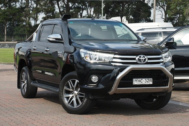 Pre-Owned Toyota Hilux GUN126R SR5 Double Cab Warwick Farm, 2017 Toyota Hilux GUN126R SR5 Double Cab Black 6 Speed Sports Automatic Utility