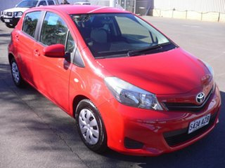 2013 Toyota Yaris NCP130R YR Red 5 Speed Manual Hatchback.