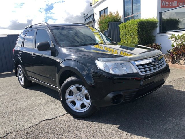 Used Subaru Forester S3 MY11 X AWD Slacks Creek, 2011 Subaru Forester S3 MY11 X AWD Black 5 Speed Manual Wagon