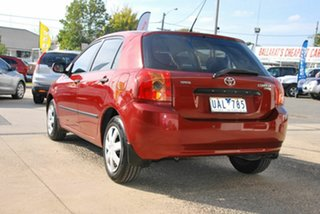 2005 Toyota Corolla ZZE122R Ascent Red 4 Speed Automatic Sedan
